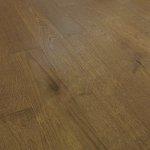 Deska podłogowa warstwowa - Dąb Thermo Coffee Classic 14x120x1000-1400mm fazowana,szczotkowana, lakierowana