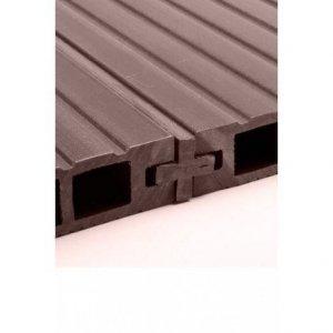 Łącznik krzyżakowy do deski kompozytowej Viva 22x22x2400mm ciemny brąz