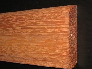 Merbau listwa cokołowa lita surowa 15x90x2200mm