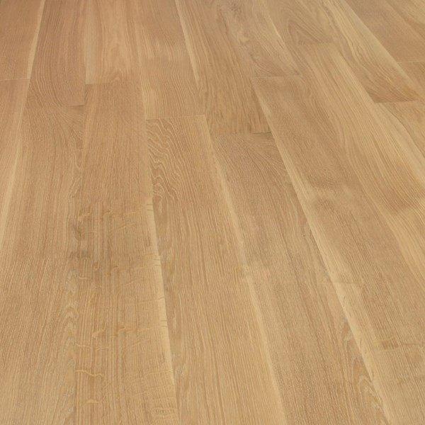 Deska podłogowa warstwowa - Dąb Sahara  Classic 14x120x1000-1400mm fazowana,szczotkowana, lakierowana