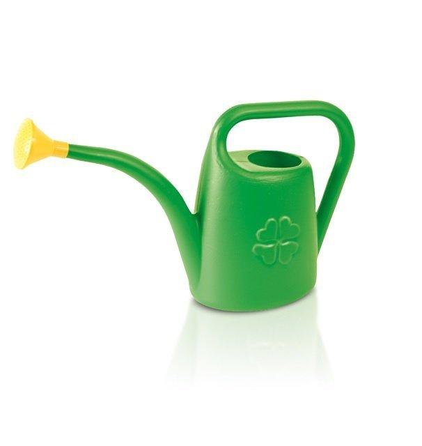 Konewka plastikowa zielona mała podlewaczka 1,8L