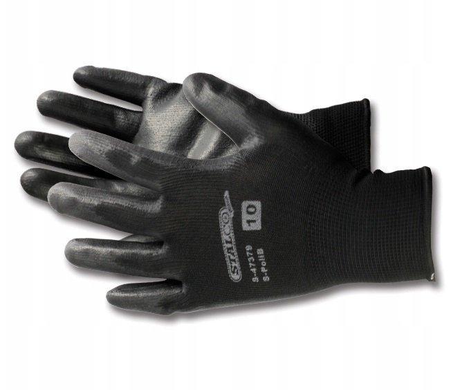 Rękawice robocze ochronne STALCO S-POLI czarne 10
