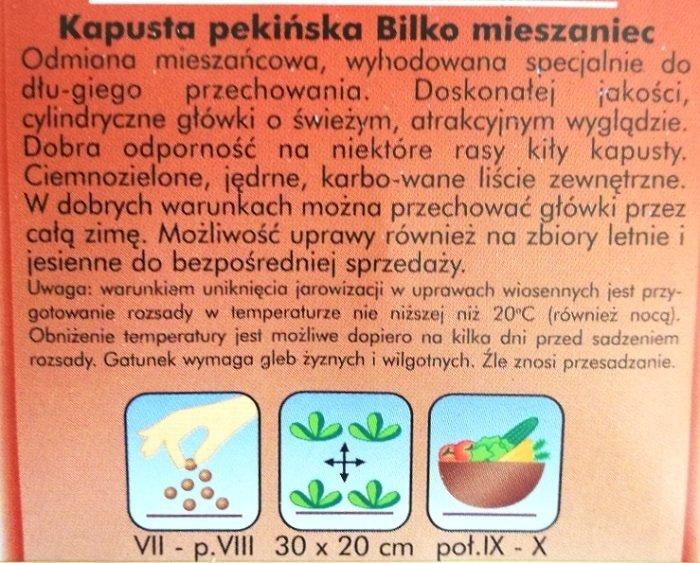 Kapusta pekińska nasiona  PLANTICO