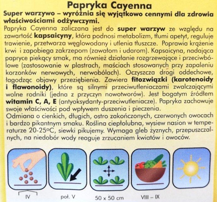 Papryka Cayenna nasiona Plantico