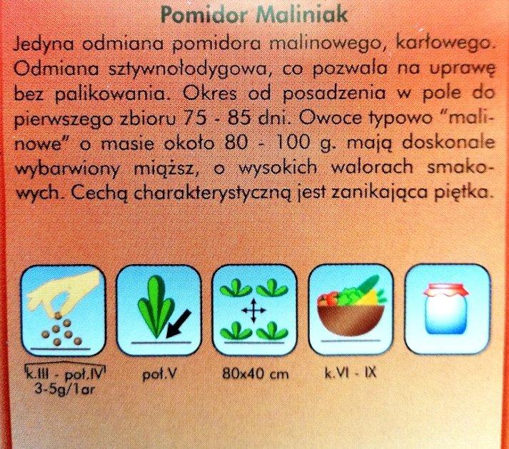 Pomidor Maliniak nasiona Plantico