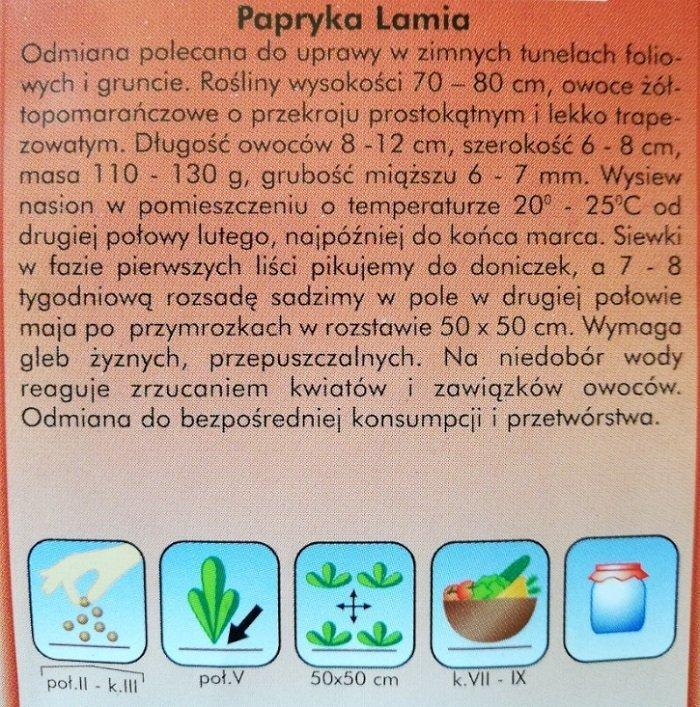Papryka Lamia nasiona Plantico