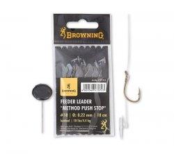 Browning FEDER METHOD Przypon PUSH STOP 16/0.18mm 10cm