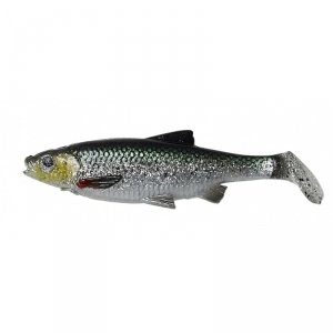 Savage Gear LB  Roach paddle tail 10cm 10g Green Silver UV