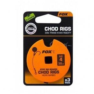 FOX Edges Przypon Chod Rig Trans Khaki r.6 25lb