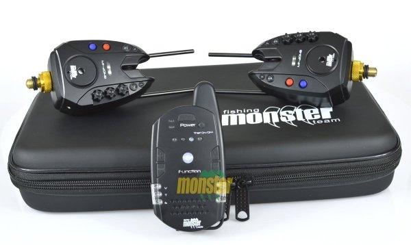Monster Fishing Zestaw Sygnalizatorów Brań MF-2014B/K-RGB 2+1