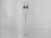 Stojak informacyjny A4 z regulacją wysokości