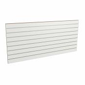 Panel sklepowy BIAŁY ze wsuwkami aluminiowymi 200 x 90 cm F10