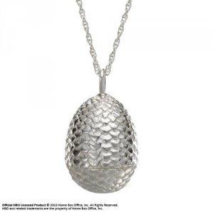 Gra o Tron - Smocze jajo - posrebrzany łańcuszek i wisiorek