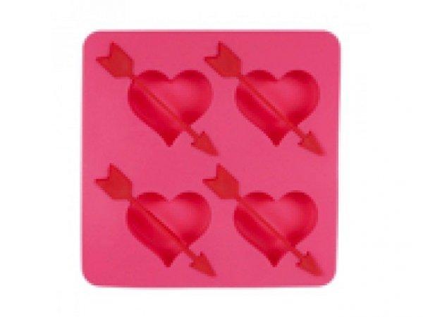 Silikonowa forma lodowa - serce ze strzałą