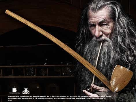 Hobbit - Fajka Gandalfa - Replika 1:1 23 cm