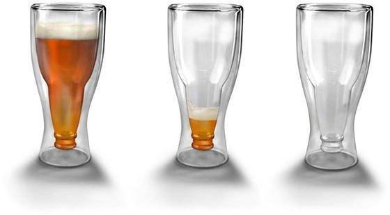 Butelkowy kufel - odwrócona butelka szklanka