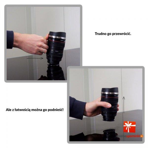 Antygrawitacyjny Kubek Obiektyw - prezent dla fotografa
