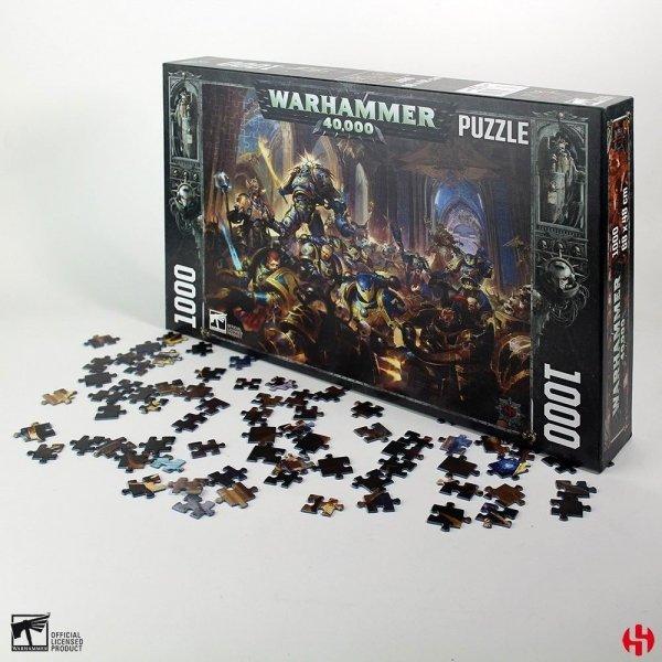 Warhammer - Puzzle 1000 el. Gulliman vs Black Legion