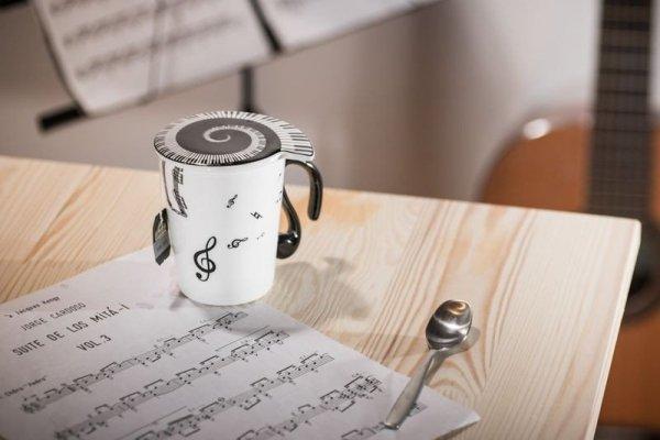 Kubek dla muzyka - nuty