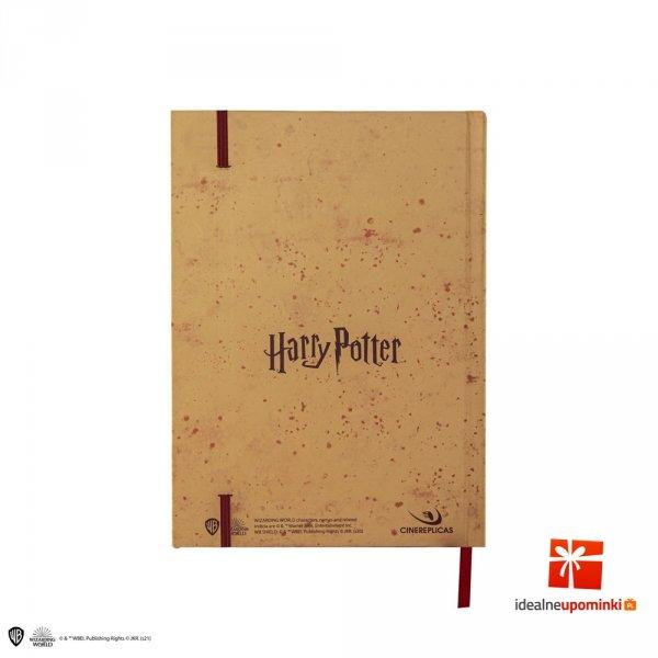 Harry Potter - Zeszyt A5 Mapa Huncwotów z małą mapą mini replika