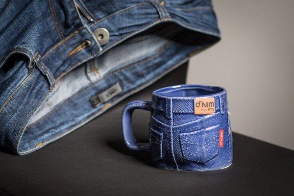 Jeansowy kubek