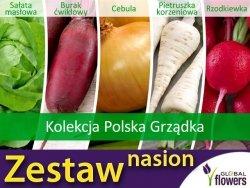 Kolekcja Warzyw Polska Grządka (zestaw 5 warzyw) nasiona