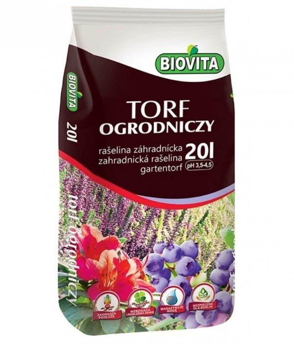 Biovita Torf ogrodniczy kwaśny 20L
