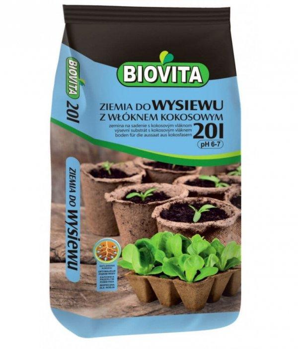 Biovita Ziemia do wysiewu z Włóknem Kokosowym 20L
