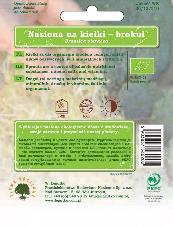 Bio nasiona ekologiczna uprawa brokuł