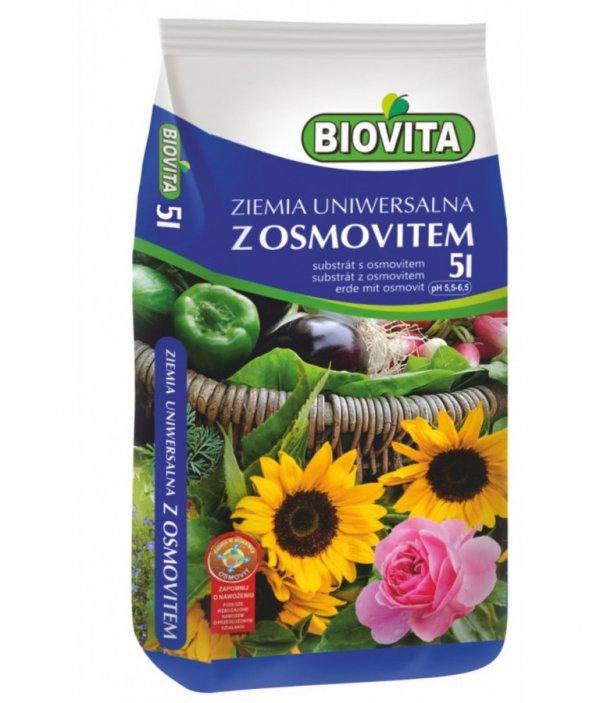 Biovita Ziemia uniwersalna do kwiatów z osmovitem 5L