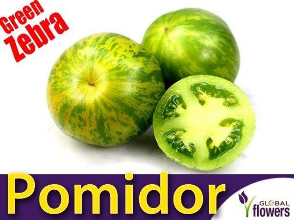 Pomidor zielony w paski Green Zebra