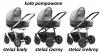 NEVO 2019 ( gondola +spacerówka +fotelik KITE jEDO 0-13 kg) + dodatki) JEDO