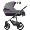 VULCANO 2020  dwa kolory stelaża ( gondola+spacerówka + fotelik ) + dodatki BEBETTO