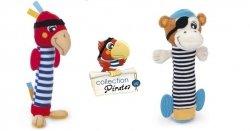 Pluszowa zabawka z piszczałką z kolekcji Piraci PAPUGA. MAŁPKA canpol