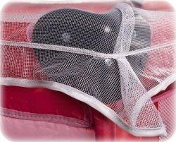 moskitiera uniwesalna przeciw owadom na łóżeczko
