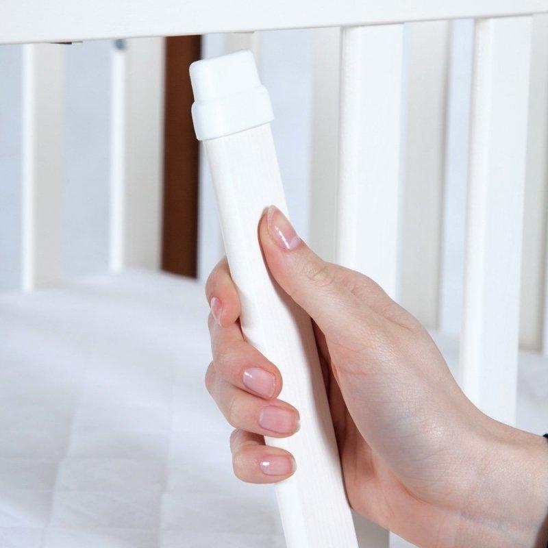 łóżeczko IWO BIAŁY/SOSNA  + szuflada 120/60 + dodatkowa barierka FUNKCJA  SOFY KLUPŚ