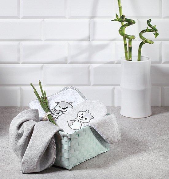 Okrycie kąpielowe bambusowe z kapturkiem  76/76 cm– ręcznik kąpielowy kod  345 BABY ONO
