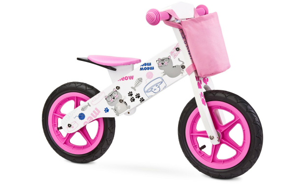 Rowerek biegowy  Zap TOYZ  Pink Kotek