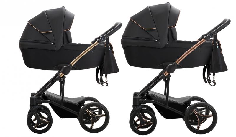 wózek wielofunkcyjny  TORINO SL  ZŁOTY lub MIEDZIANY STELAŻ  ( gondola+ spacerówka) Bebetto