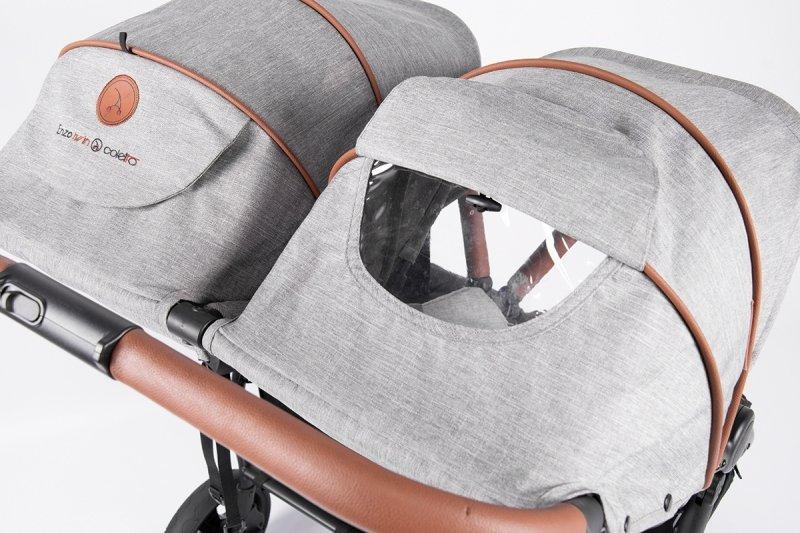 2021 wózek bliżniaczy SPACEROWY 3 kolory ENZO TWIN Coletto