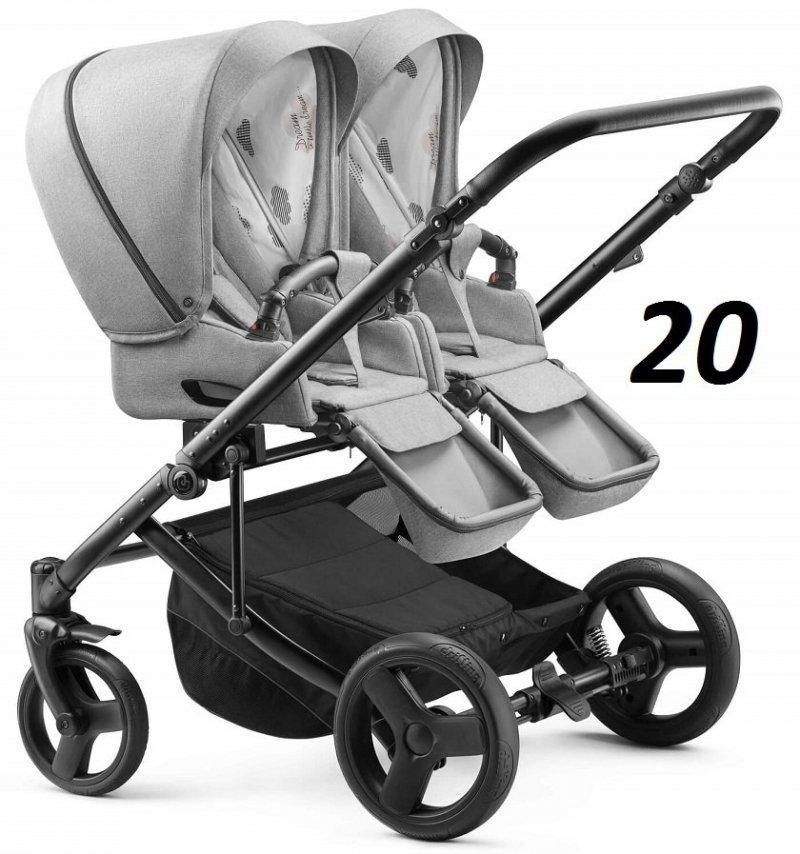2020 wózek bliżniaczy DUO JEDO (2 spacerówki) JEDO