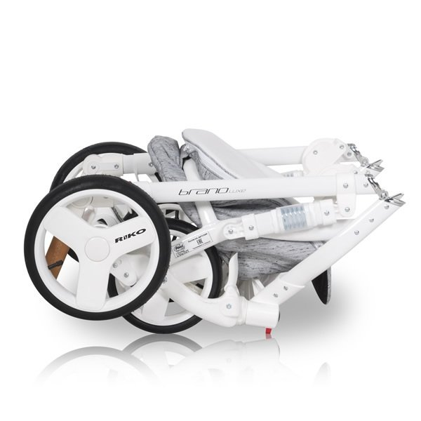 wózek wielofunkcyjny BRANO LUXE ( gondola+ spacerówka+ fotelik) RIKO - opcja 4w1 z bazą isofix