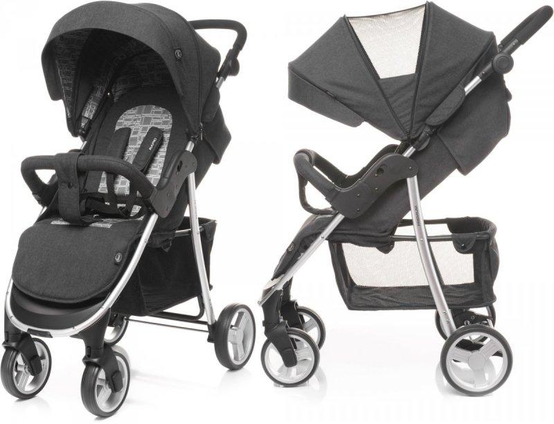 wózek spacerowy RAPID PREMIUM LIMITED SILVER + uchwyt + folia 4 BABY