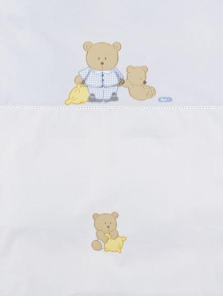 pościel 3-elementowa Sleepy Bears Blue  Feretti ( poszewki+ochraniacz)