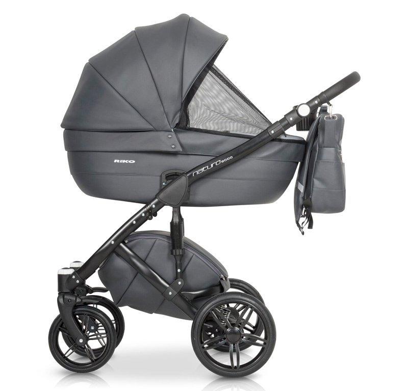 Nowoczesny wózek NATURO ECCO  ( gondola+spacerówka+ fotelik) firmy RIKO