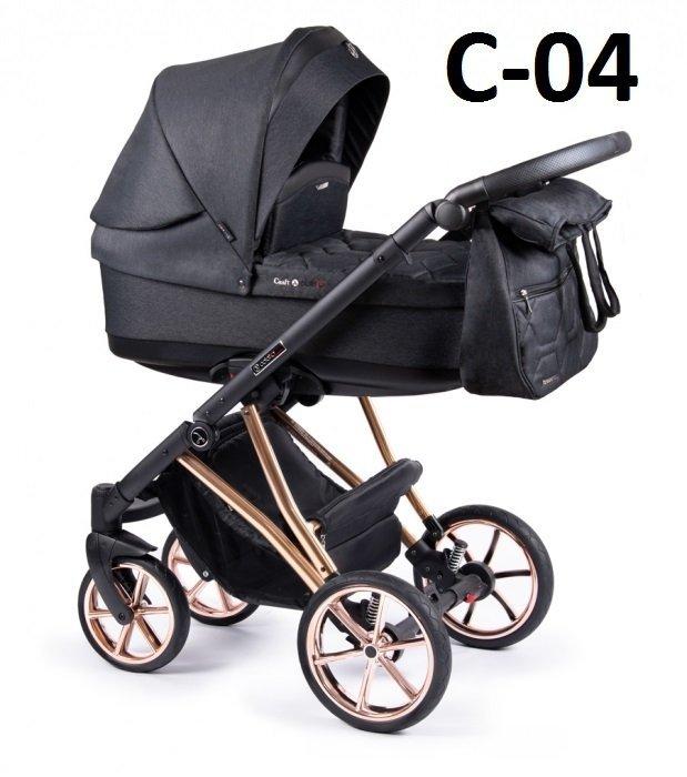 wózek wielofunkcyjny CRAFT 3w1 ( gondola +spacerówka + fotelik ) COLETTO DWA KOLORY STELAŻA miedziany i srebrny