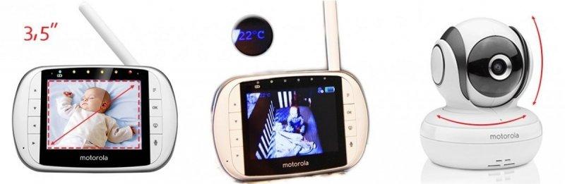 Elektroniczna Niania Motorola MBP 36SC LCD 3,5 Cali OBROTOWA KAMERA