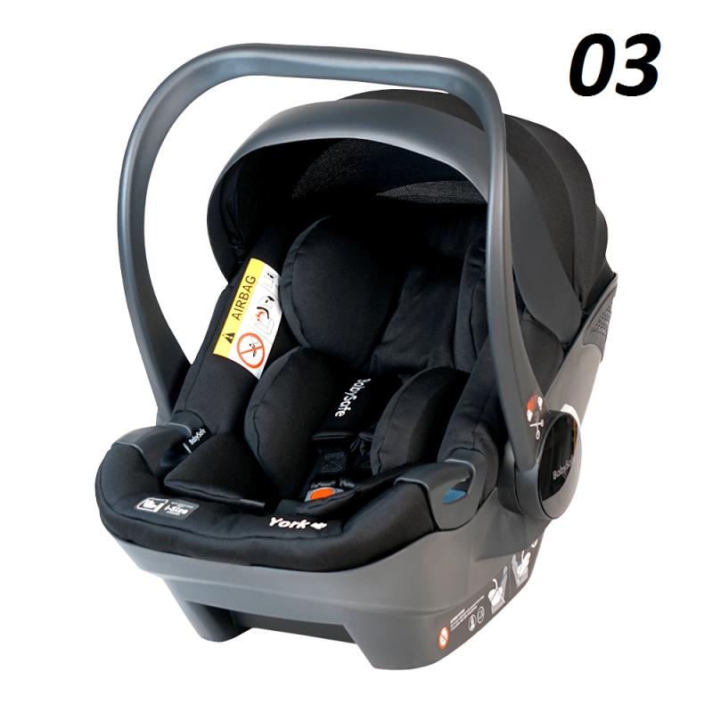 fotelik samochodowy  YORK  i-Size + baza Isofix  Babysafe 0-13 Kg (40-80cm )