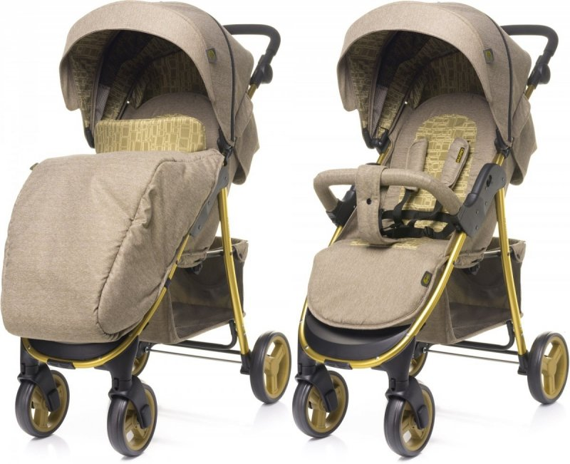 2021 wózek spacerowy RAPID PREMIUM LIMITED GOLD + uchwyt + folia 4 BABY