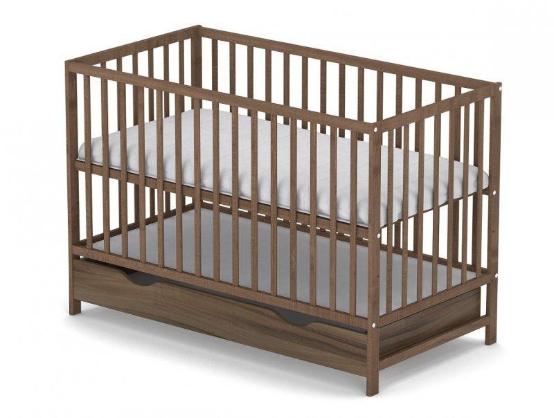 łóżeczko KLASYCZNE kolor buk 120/60 cm + szuflada